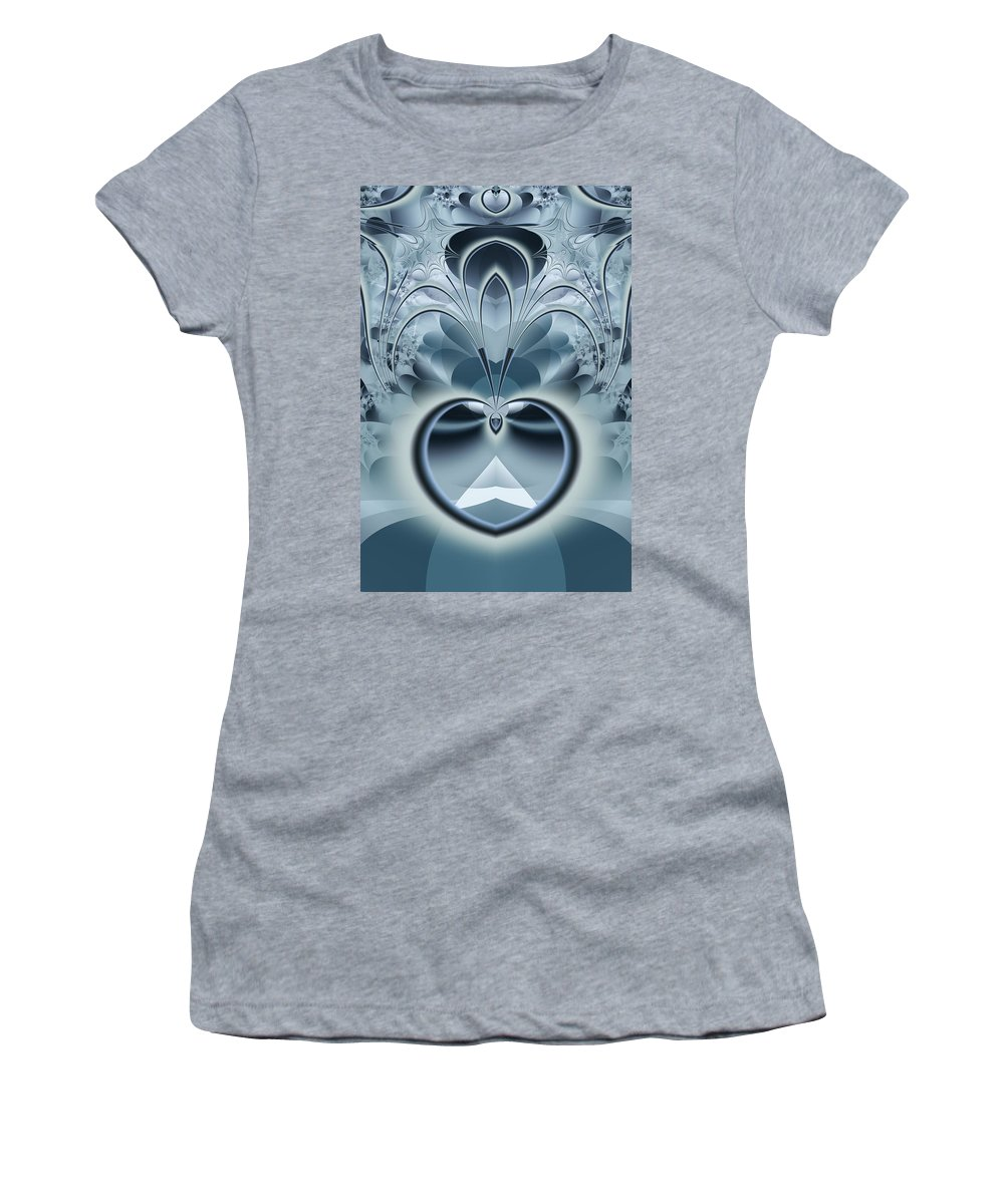 Fractal Women's T-Shirt (Athletic Fit) featuring the digital art Vision by Frederic Durville