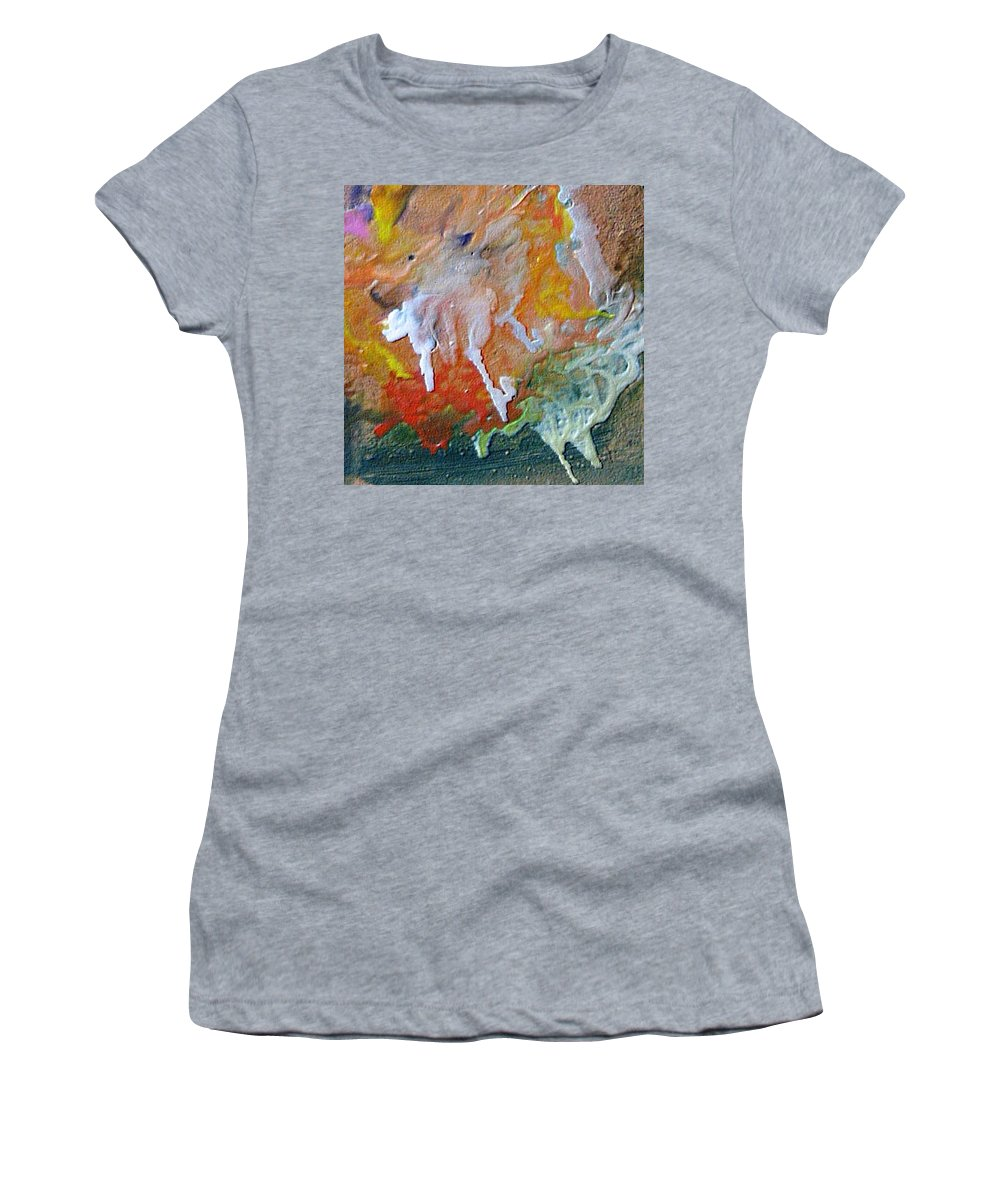 Abstract Women's T-Shirt (Athletic Fit) featuring the painting W 025 by Dragica Micki Fortuna