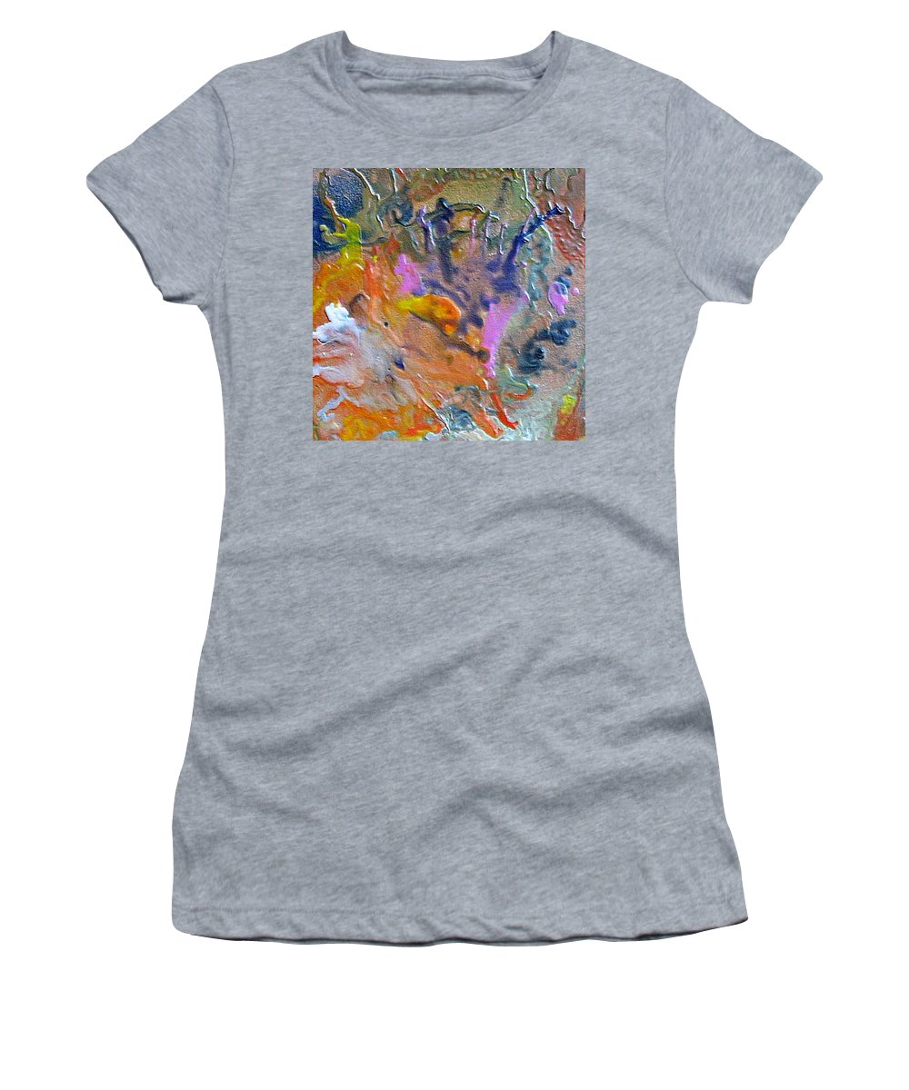 Abstract Women's T-Shirt (Athletic Fit) featuring the painting W 027 by Dragica Micki Fortuna