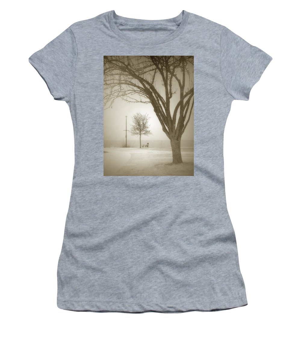 Storm Women's T-Shirt featuring the photograph Waiting Out The Storm by Tara Turner