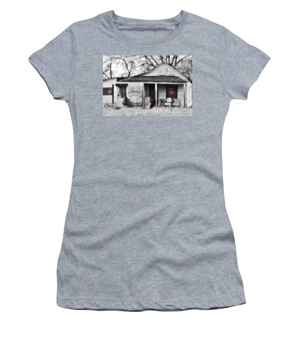 House Women's T-Shirt (Athletic Fit) featuring the photograph Waiting by Susan Kinney