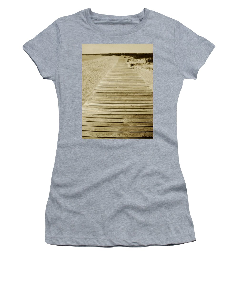 Beach Women's T-Shirt featuring the photograph Walking Into Forever by RC DeWinter