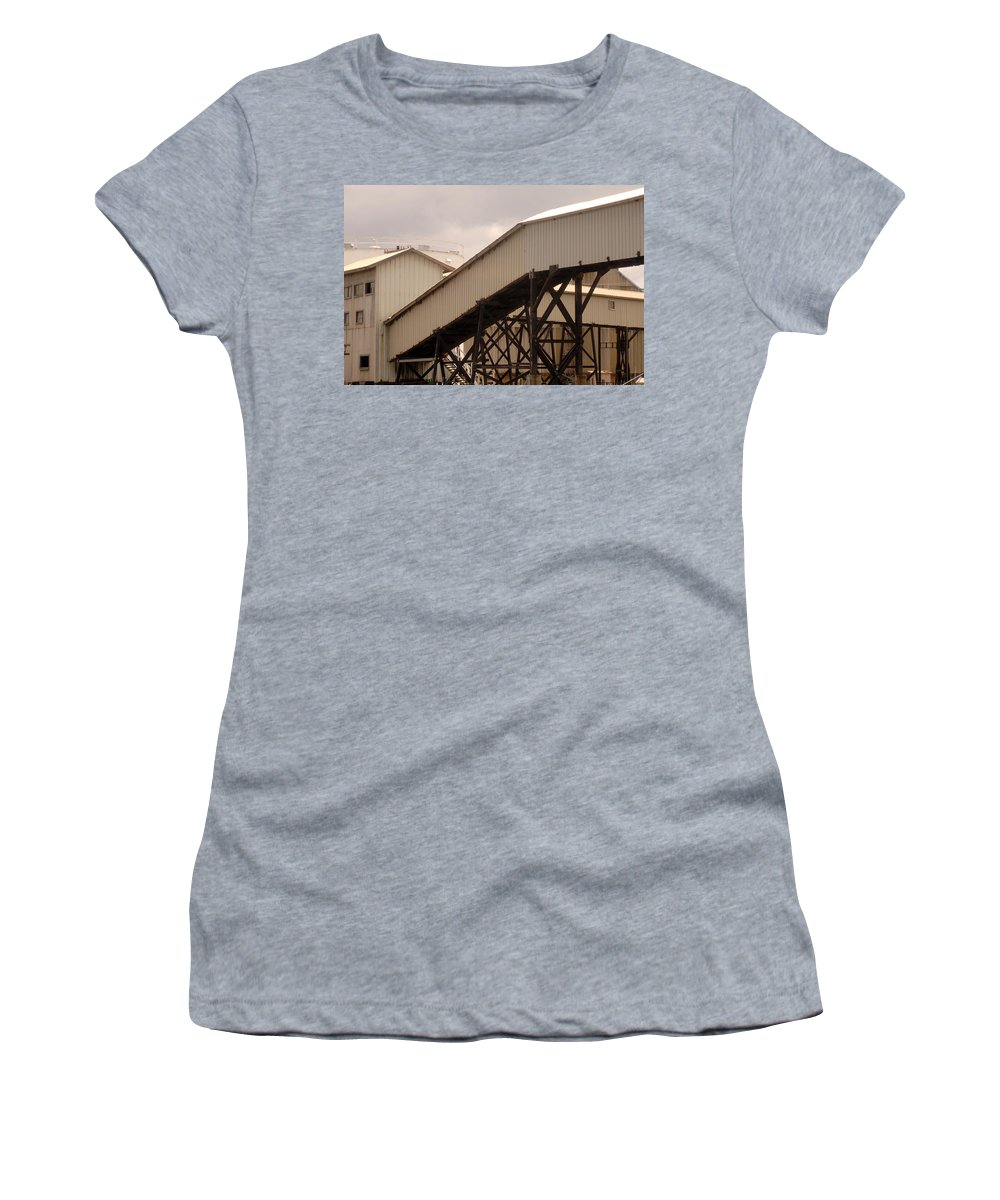 Urban Women's T-Shirt (Athletic Fit) featuring the photograph Warehouse Passage by Jill Reger