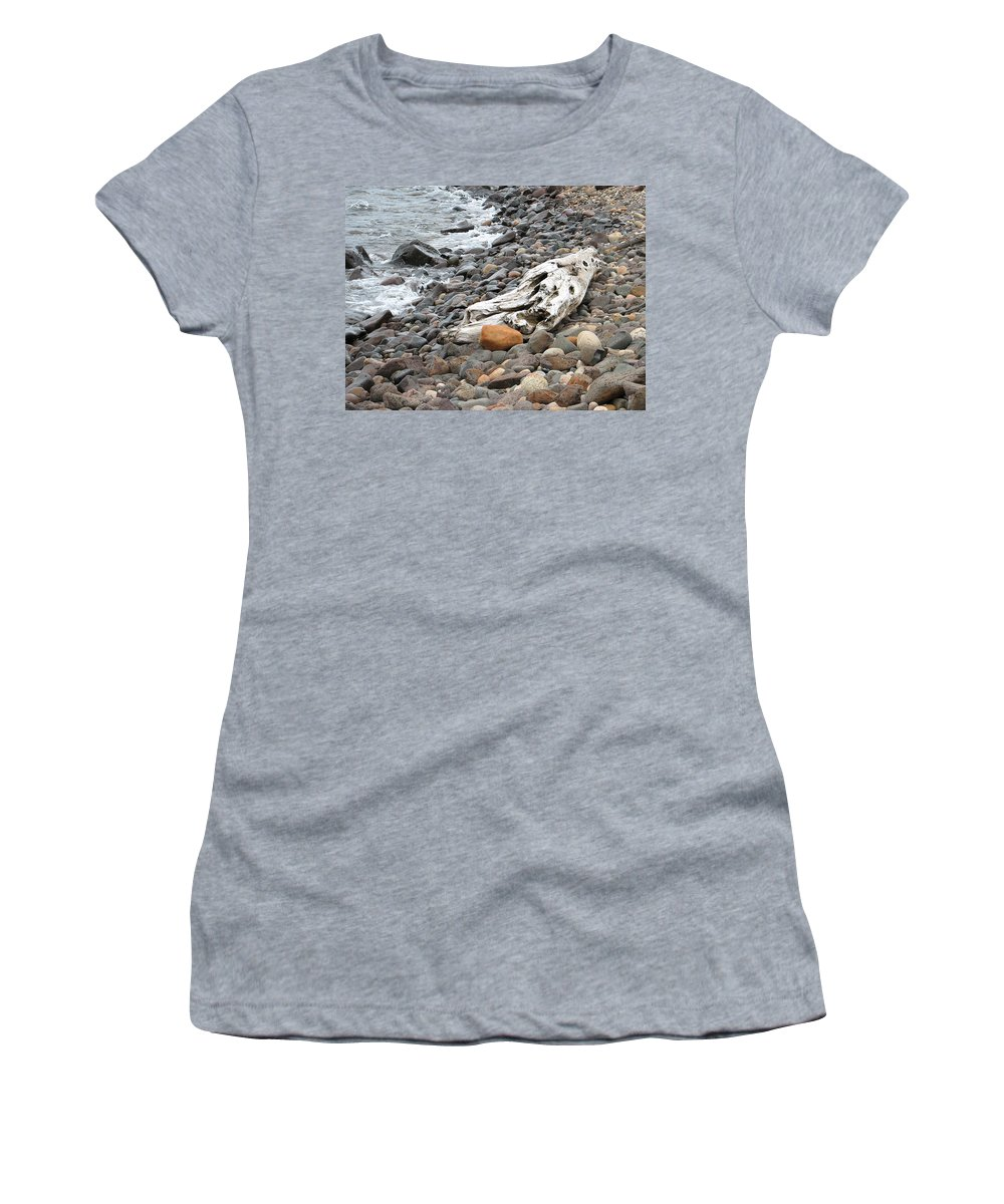Driftwood Women's T-Shirt (Athletic Fit) featuring the photograph Washed Up by Kelly Mezzapelle