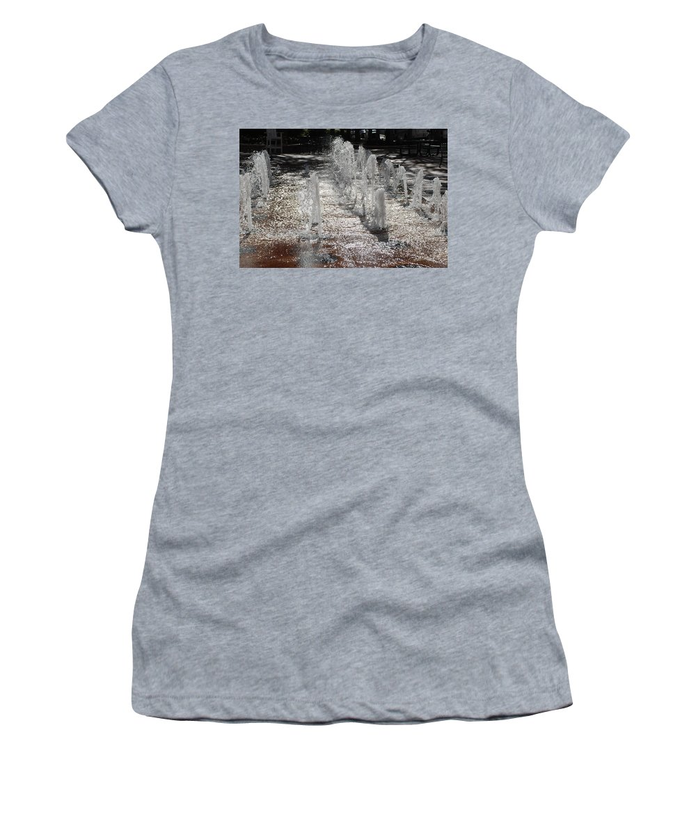 Water Women's T-Shirt (Athletic Fit) featuring the photograph Water Fountain by Rob Hans