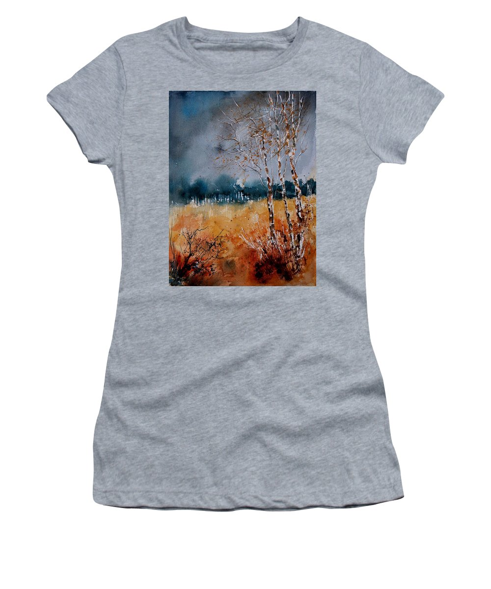 Tree Women's T-Shirt (Athletic Fit) featuring the painting Watercolor 030308 by Pol Ledent