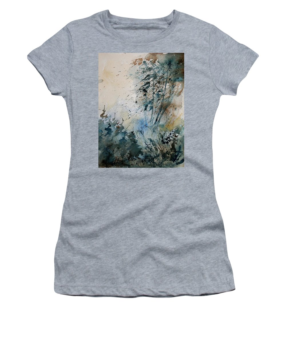 Tree Women's T-Shirt (Athletic Fit) featuring the painting Watercolor 148708 by Pol Ledent