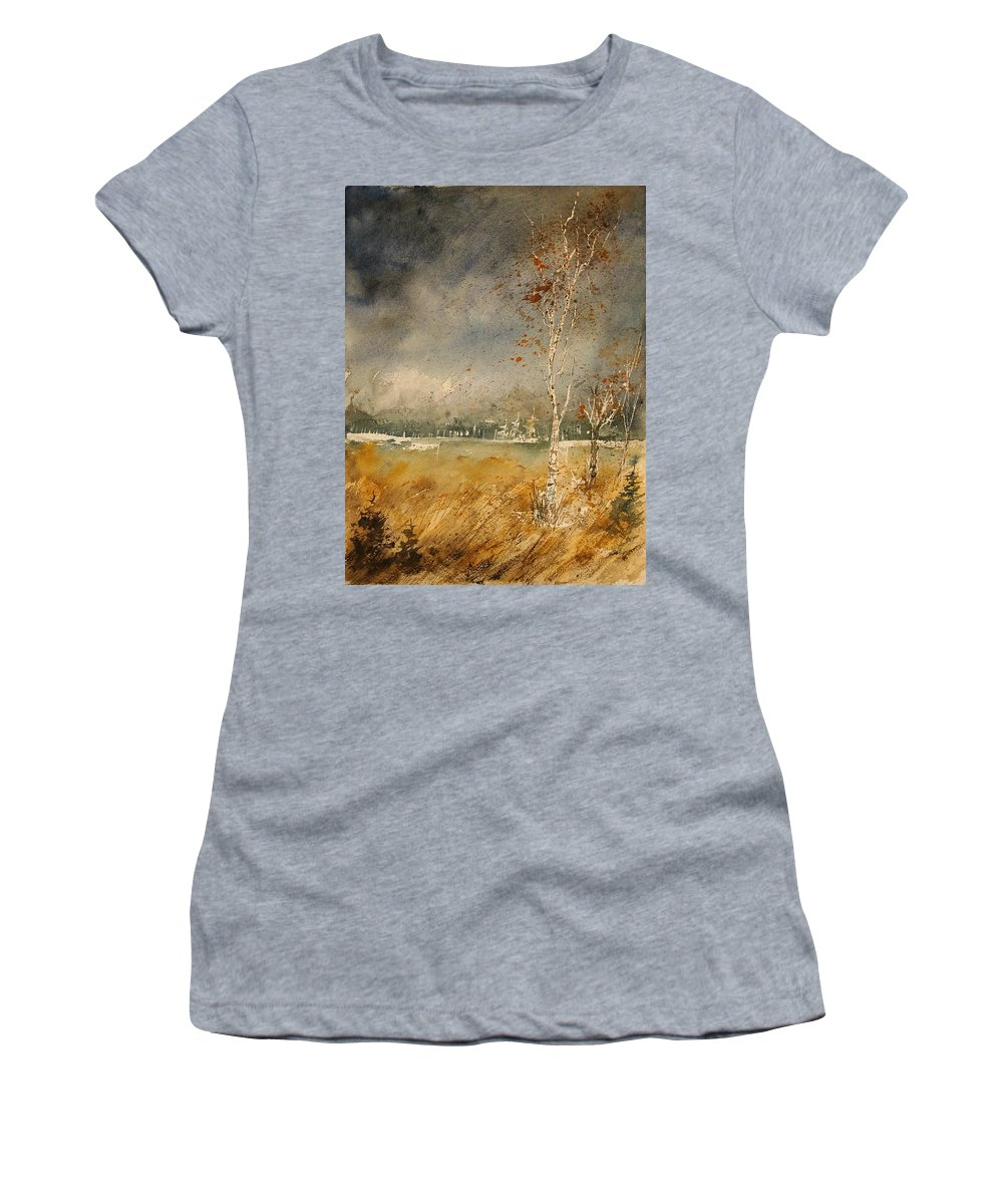 Tree Women's T-Shirt (Athletic Fit) featuring the painting Watercolor 190307 by Pol Ledent