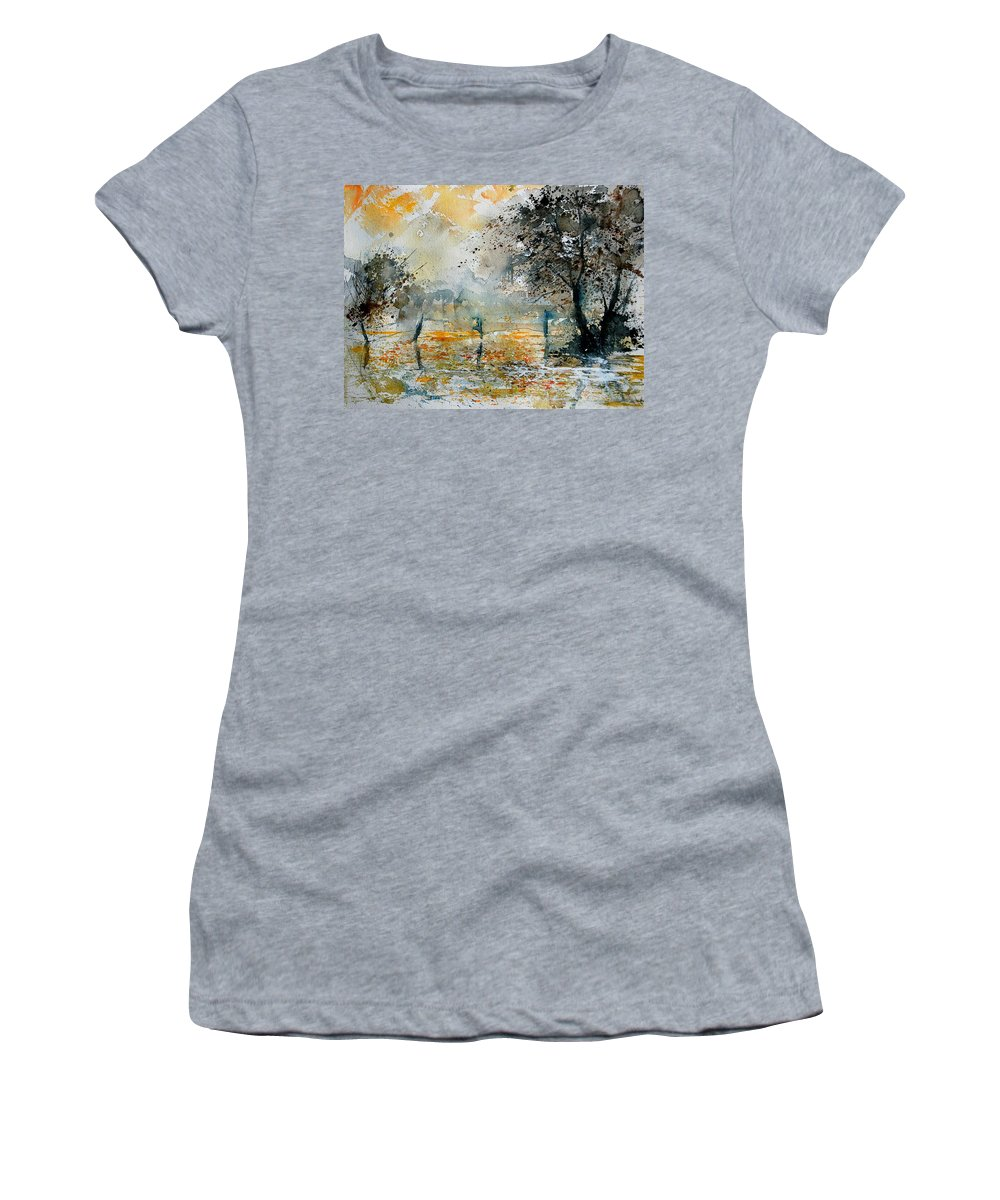 Water Women's T-Shirt (Athletic Fit) featuring the painting Watercolor 261006 by Pol Ledent