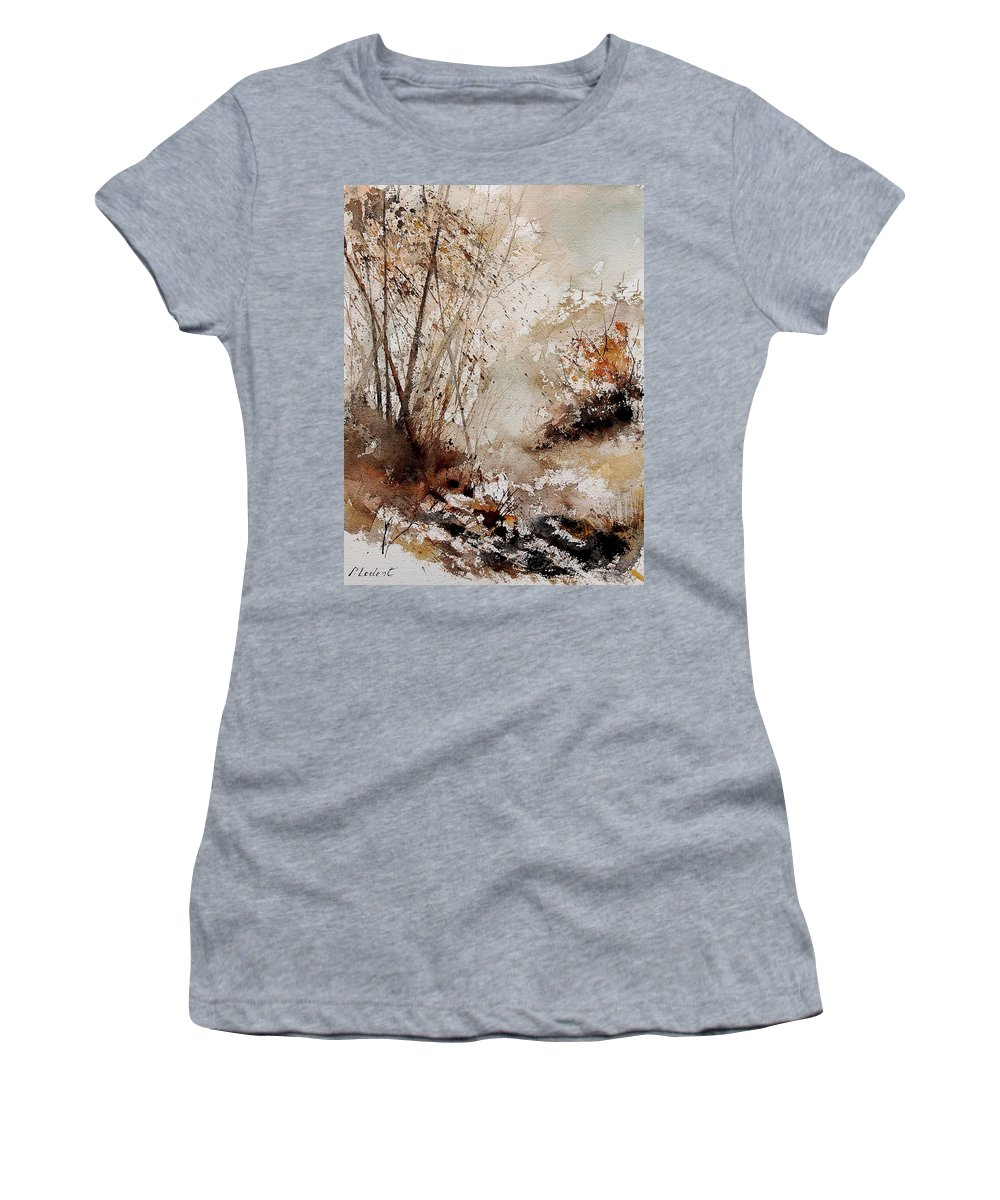 Tree Women's T-Shirt (Athletic Fit) featuring the painting Watercolor 290808 by Pol Ledent