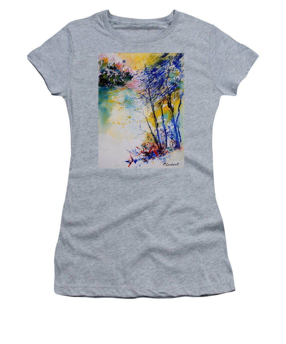 Water Women's T-Shirt (Athletic Fit) featuring the painting Watercolor 902081 by Pol Ledent