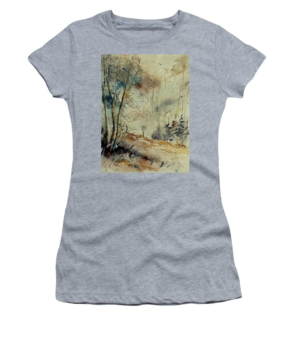 River Women's T-Shirt featuring the painting Watercolor 902190 by Pol Ledent