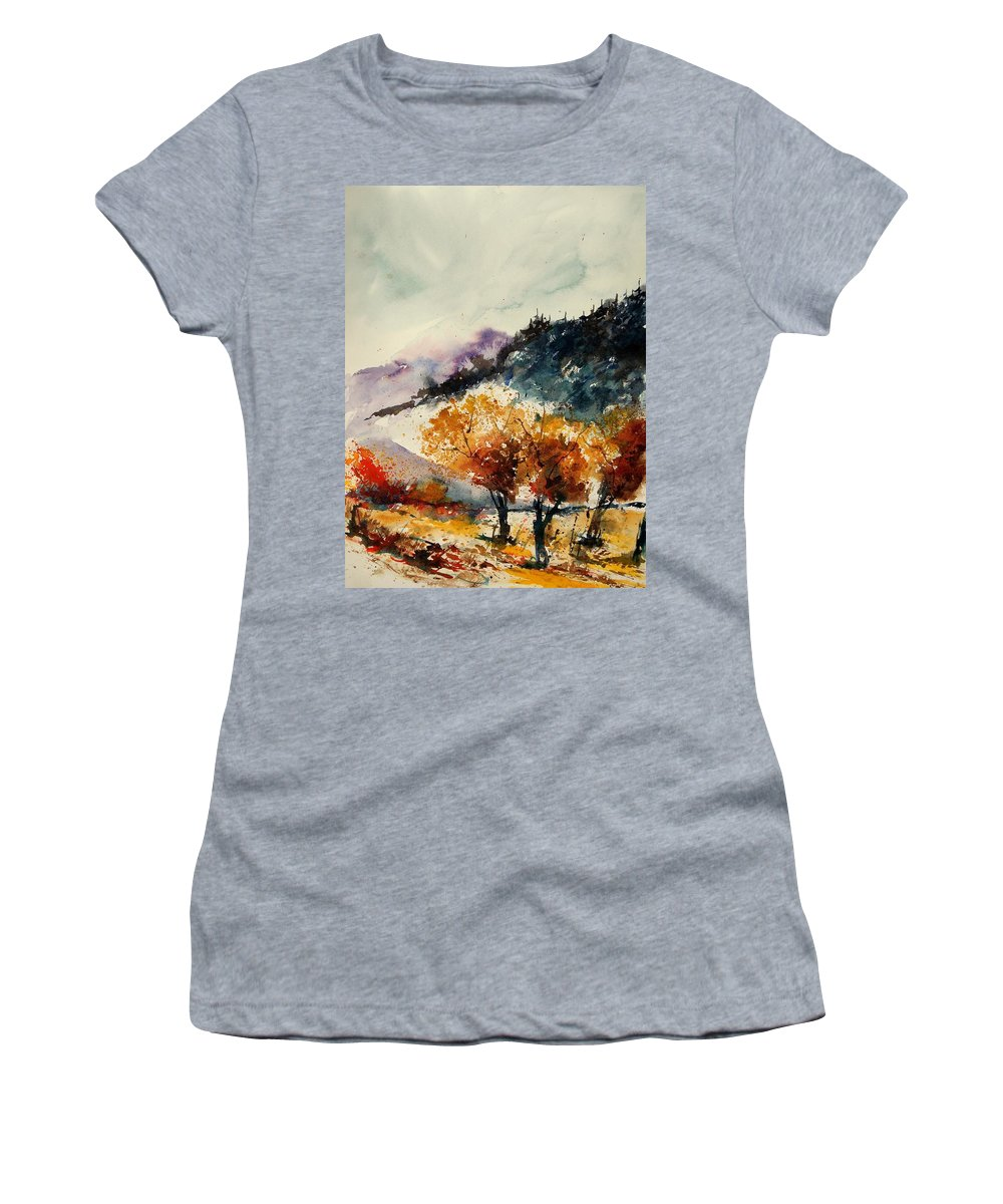 Tree Women's T-Shirt featuring the painting Watercolor 908041 by Pol Ledent
