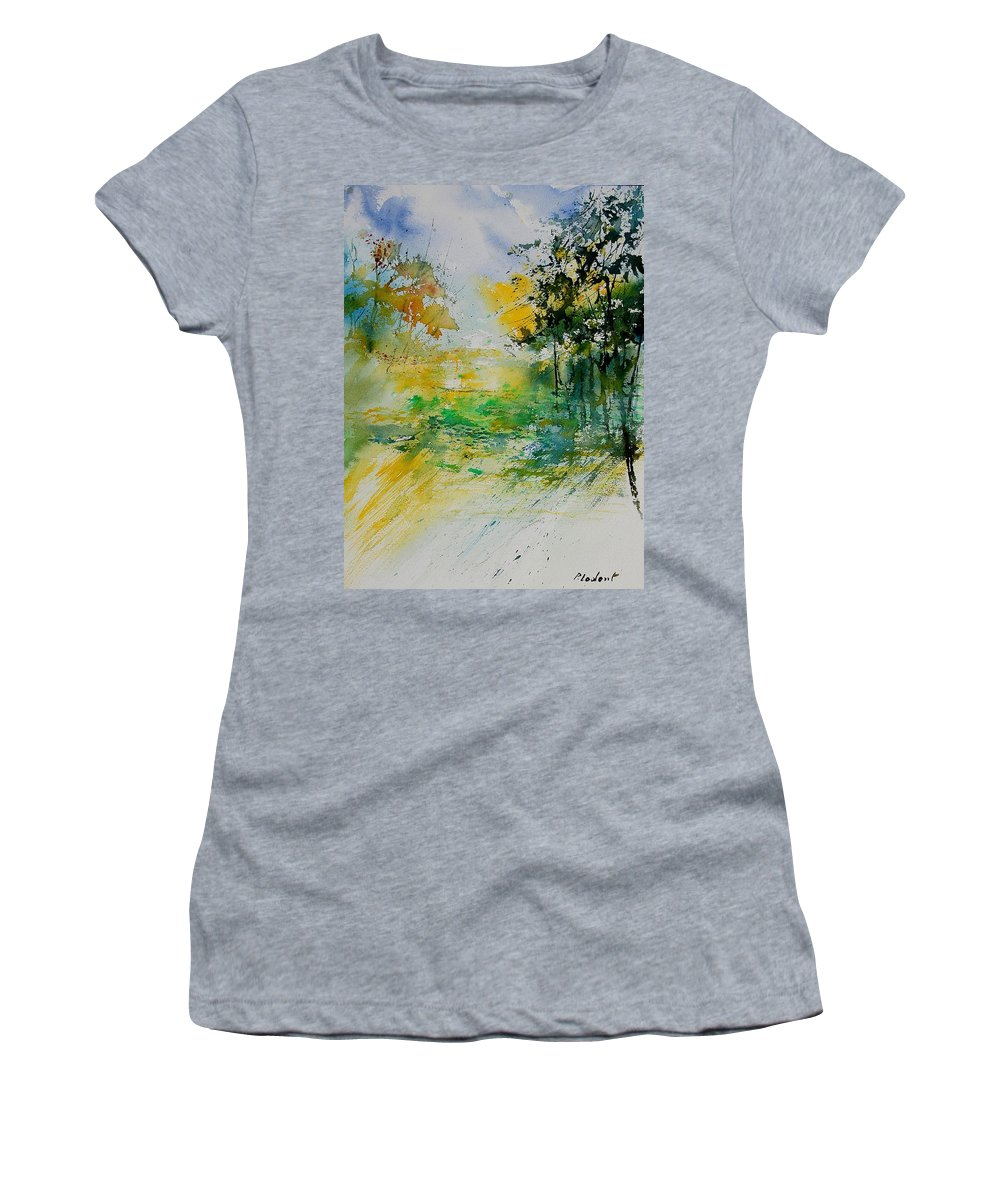 Water Women's T-Shirt featuring the painting Watercolor 908051 by Pol Ledent