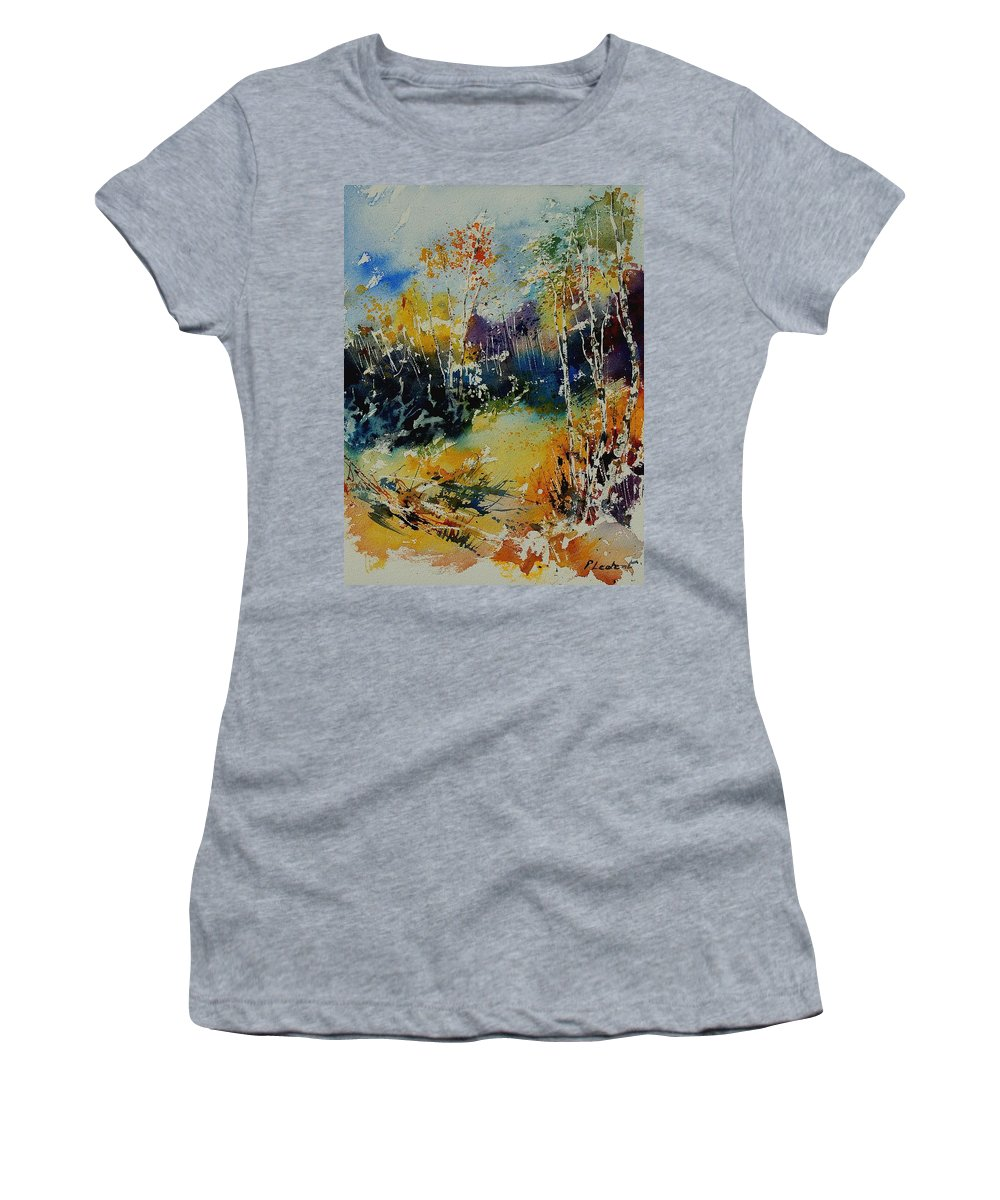 Tree Women's T-Shirt featuring the painting Watercolor 909052 by Pol Ledent