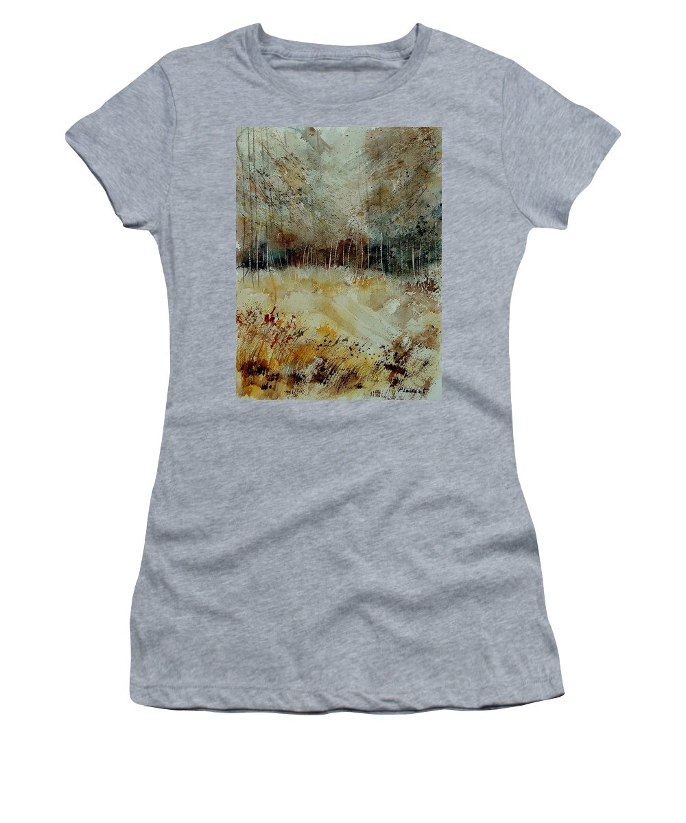 Tree Women's T-Shirt featuring the painting Watercolor 9090722 by Pol Ledent
