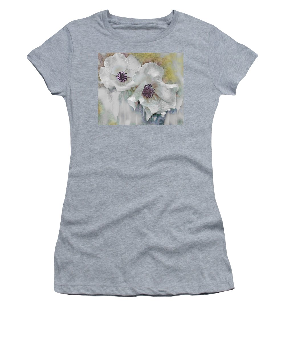 Flowers Women's T-Shirt featuring the photograph Wayside Flowers by John Anderson