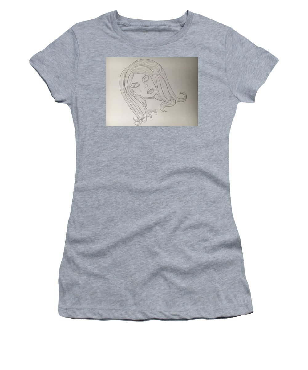 Woman Women's T-Shirt (Athletic Fit) featuring the drawing Weeping Widow by Aliyah Pimentel