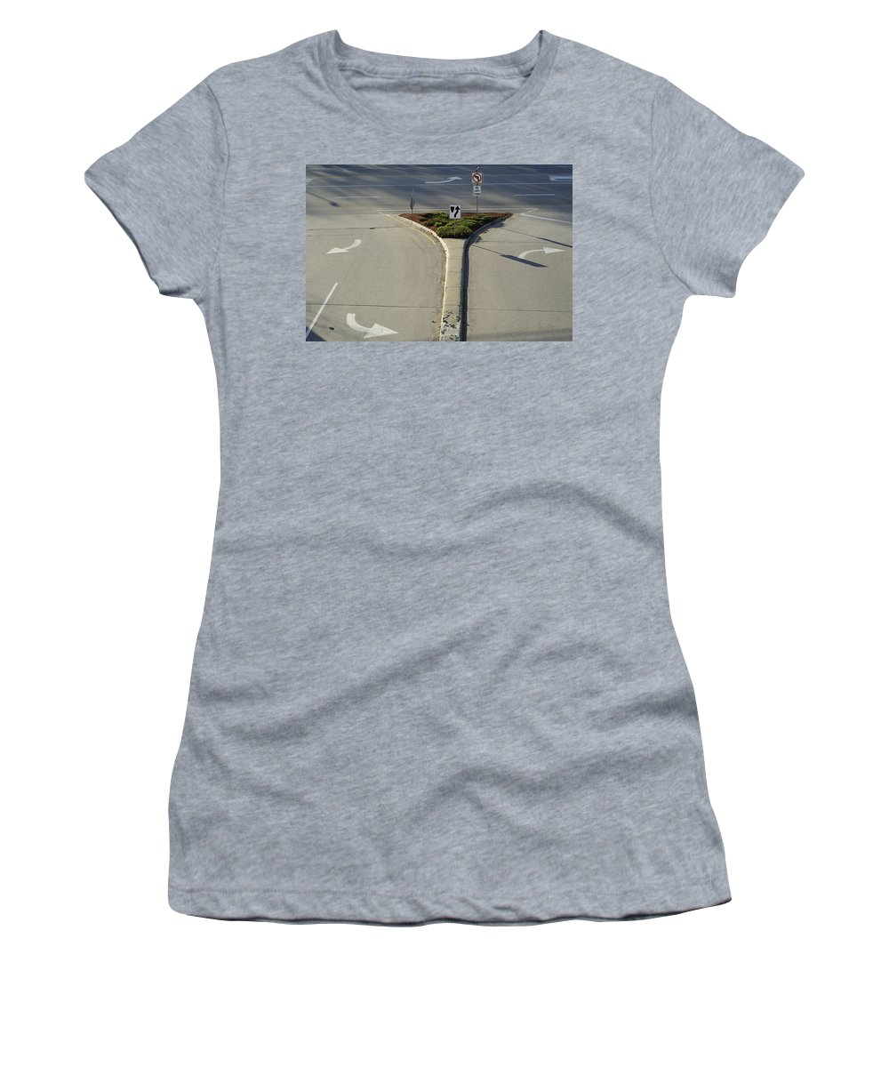 Street Women's T-Shirt (Athletic Fit) featuring the photograph Welcome To Driver's Ed by Luke Moore