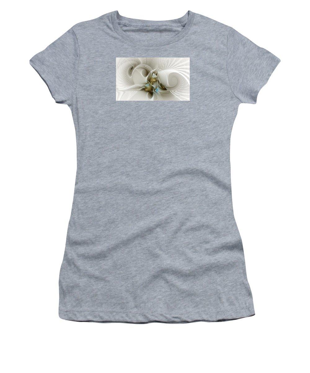 Fractal Women's T-Shirt featuring the digital art Welcome To The Second Floor-fractal Art by Karin Kuhlmann