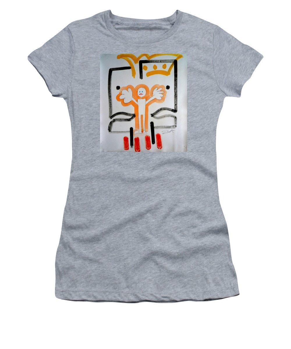 Drawing Women's T-Shirt featuring the painting welcome to the U N by Charles Stuart