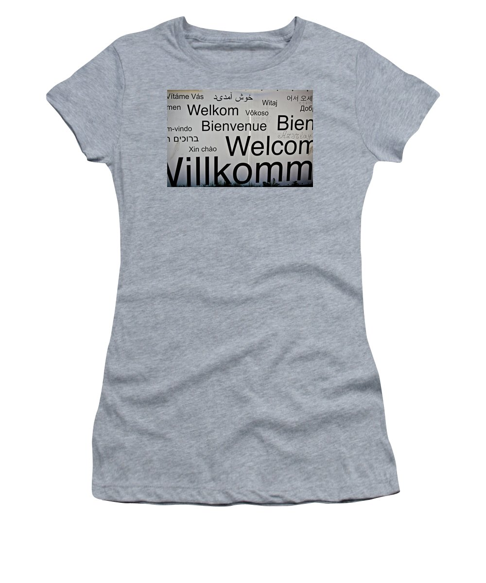 Castles Women's T-Shirt featuring the photograph Welcome Wall by Jill Smith