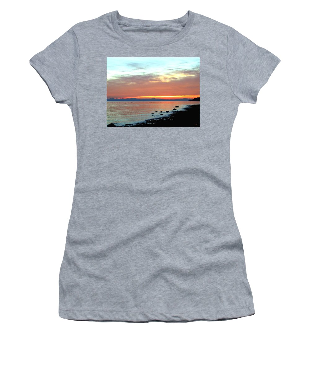 Sunset Women's T-Shirt (Athletic Fit) featuring the photograph West Vancouver Sunset by Will Borden