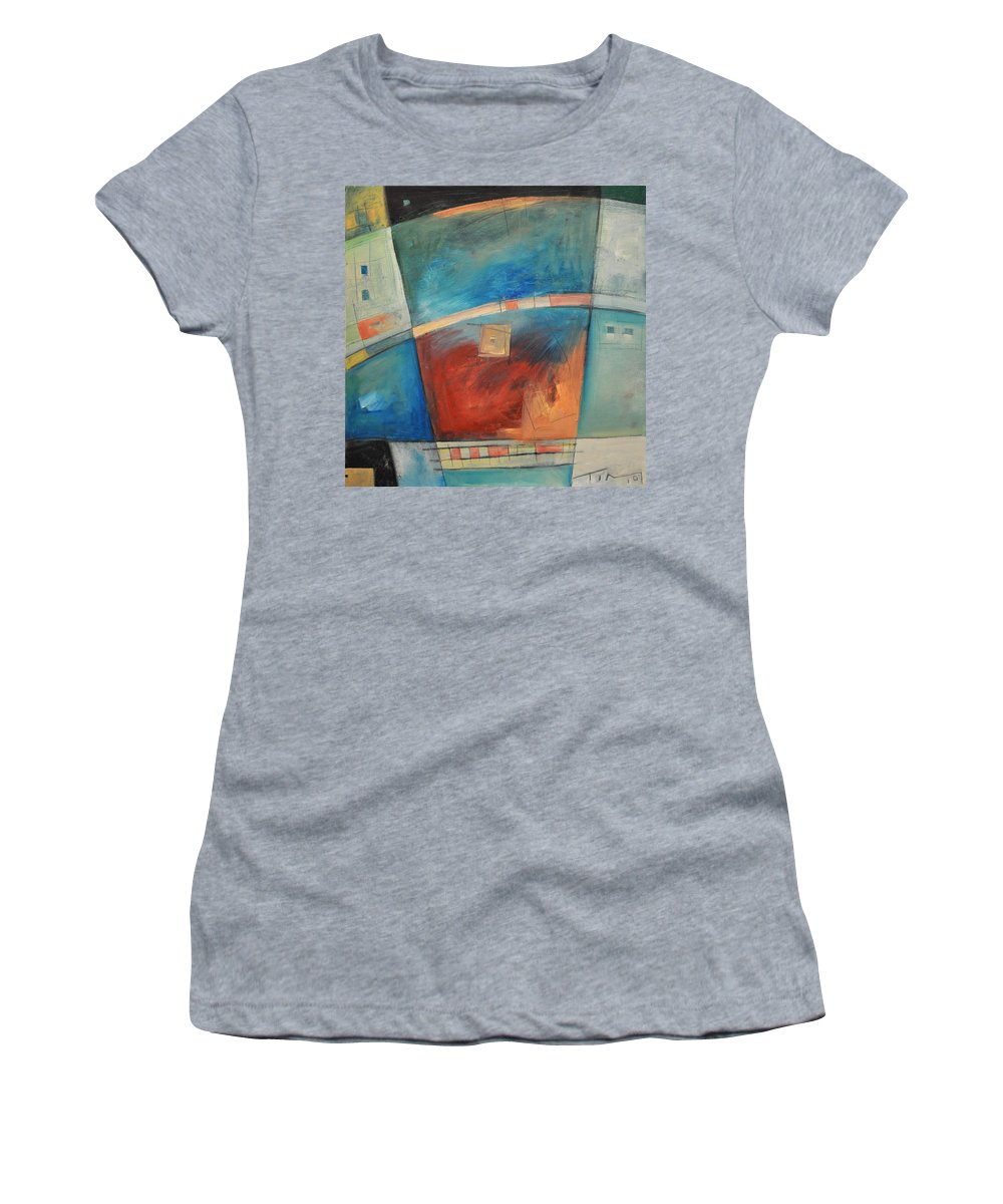 Abstract Women's T-Shirt (Athletic Fit) featuring the painting When Pigs Fly by Tim Nyberg