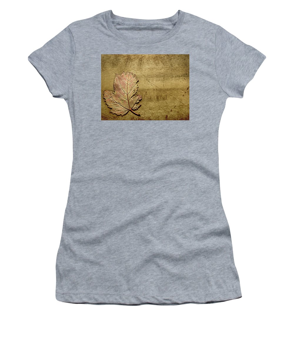 Autumn Women's T-Shirt (Athletic Fit) featuring the photograph ...while You Fall Apart by Dana DiPasquale