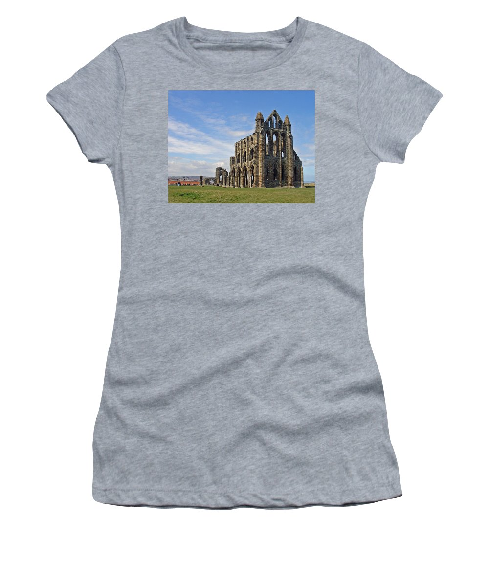 Sky Women's T-Shirt featuring the photograph Whitby Abbey by Rod Johnson