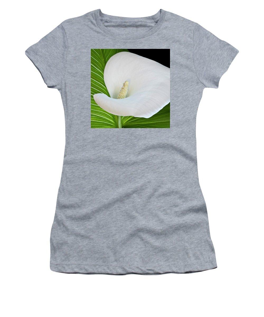 Calla Women's T-Shirt featuring the photograph White Calla by Heiko Koehrer-Wagner