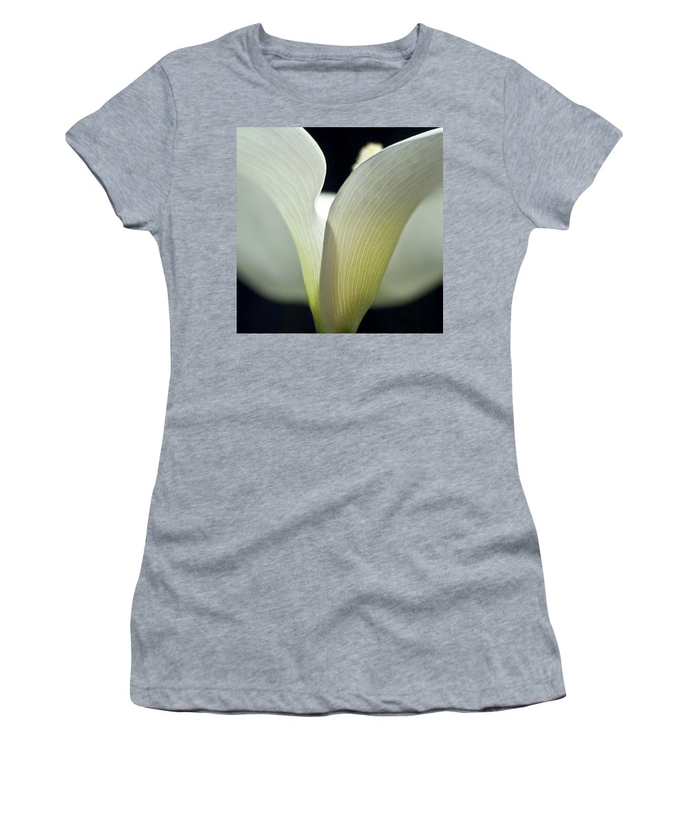 Calla Women's T-Shirt featuring the photograph White Calla Lily by Heiko Koehrer-Wagner