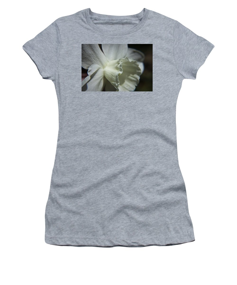 Flower Women's T-Shirt (Athletic Fit) featuring the photograph White Daffodil by Teresa Mucha