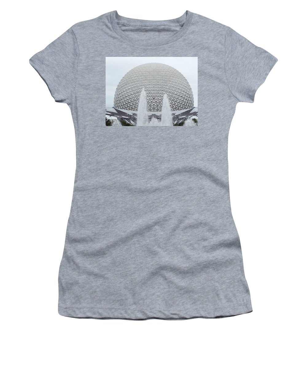 Epcot Women's T-Shirt (Athletic Fit) featuring the photograph White Epcot by Erick Schmidt