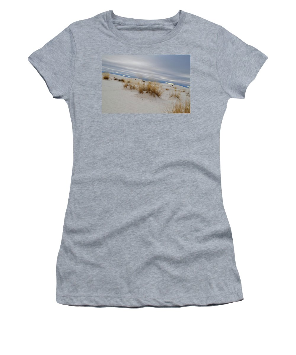 White Sand Women's T-Shirt (Athletic Fit) featuring the photograph White Sands Iv by Dawn Crichton