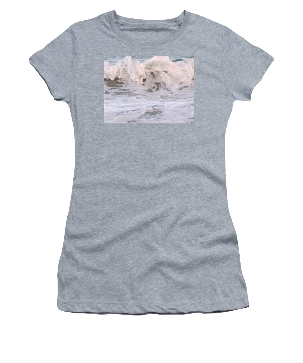 Surf Women's T-Shirt (Athletic Fit) featuring the photograph Wild Surf by Ian MacDonald