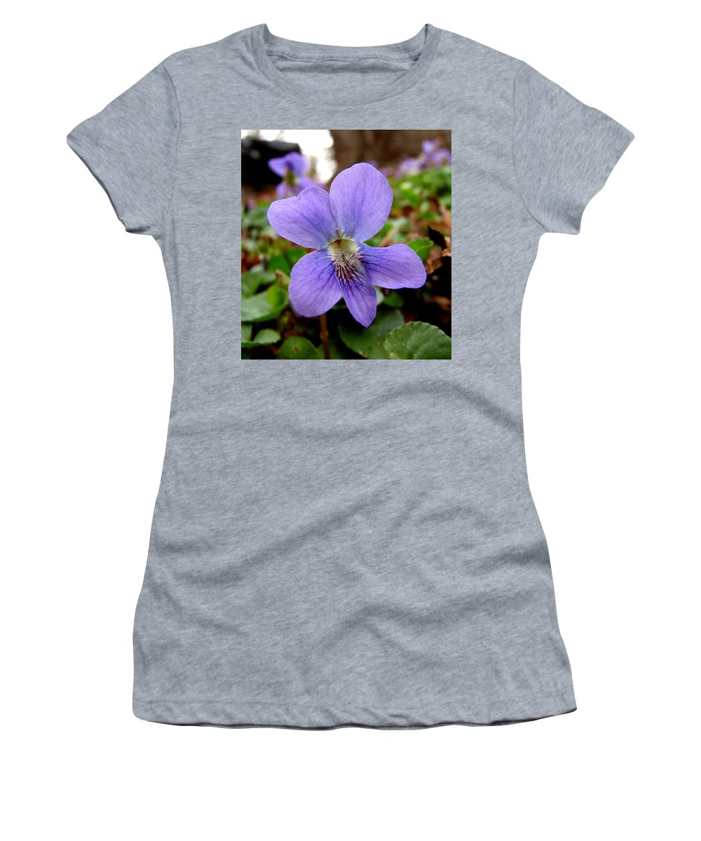 Violet Women's T-Shirt (Athletic Fit) featuring the photograph Wild Violet 1 by J M Farris Photography