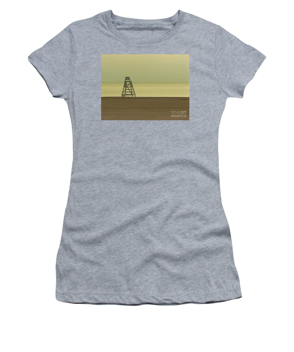 Beach Women's T-Shirt (Athletic Fit) featuring the photograph Will You Lay Here With Me And Just Forget The World by Dana DiPasquale