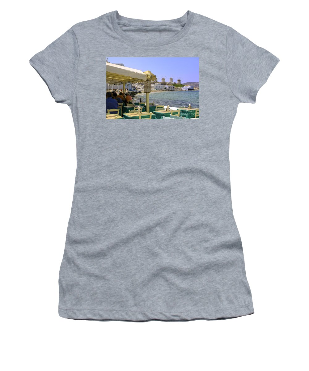 Windmills Women's T-Shirt (Athletic Fit) featuring the photograph Windmill View by Madeline Ellis