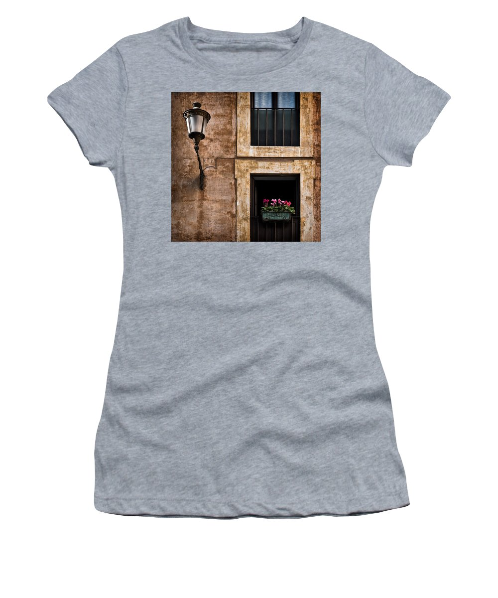 Window Box Women's T-Shirt (Athletic Fit) featuring the photograph Window Box by Dave Bowman