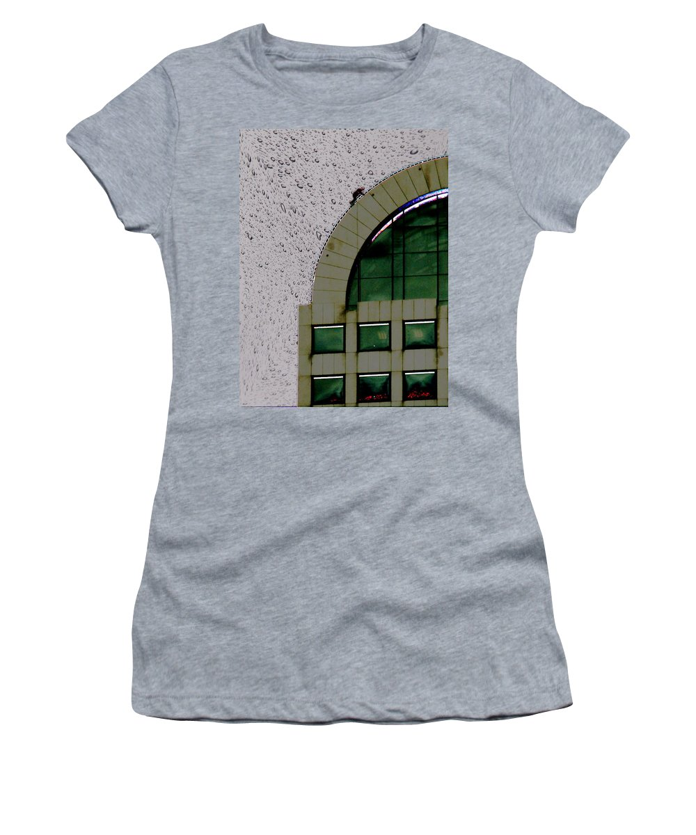 Seattle Women's T-Shirt featuring the photograph Window Washer by Tim Allen
