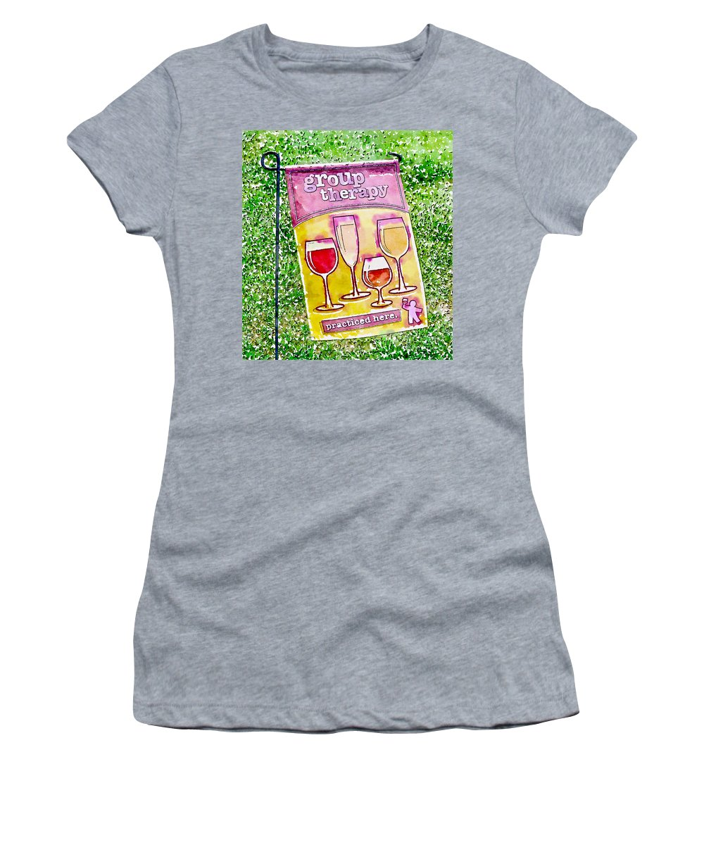 Wine Women's T-Shirt featuring the photograph Wine Sign by Kerri Farley