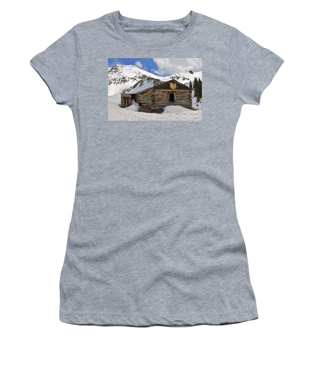 Nature Women's T-Shirt featuring the photograph Winter At The Boston Mine 2 by Tonya Hance
