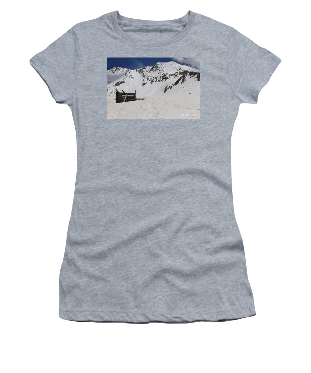 Nature Women's T-Shirt featuring the photograph Winter At The Boston Mine 3 by Tonya Hance