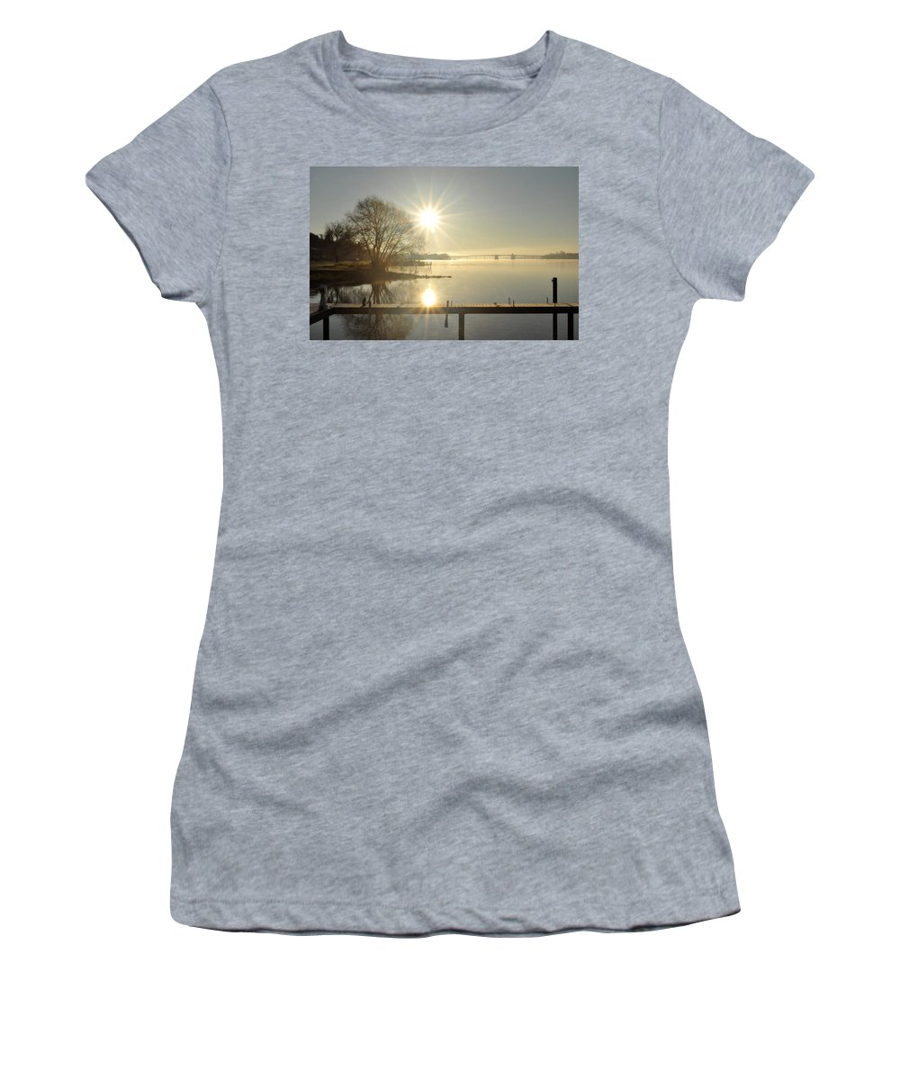Water Women's T-Shirt (Athletic Fit) featuring the photograph Winter Is Coming by Tim Nyberg