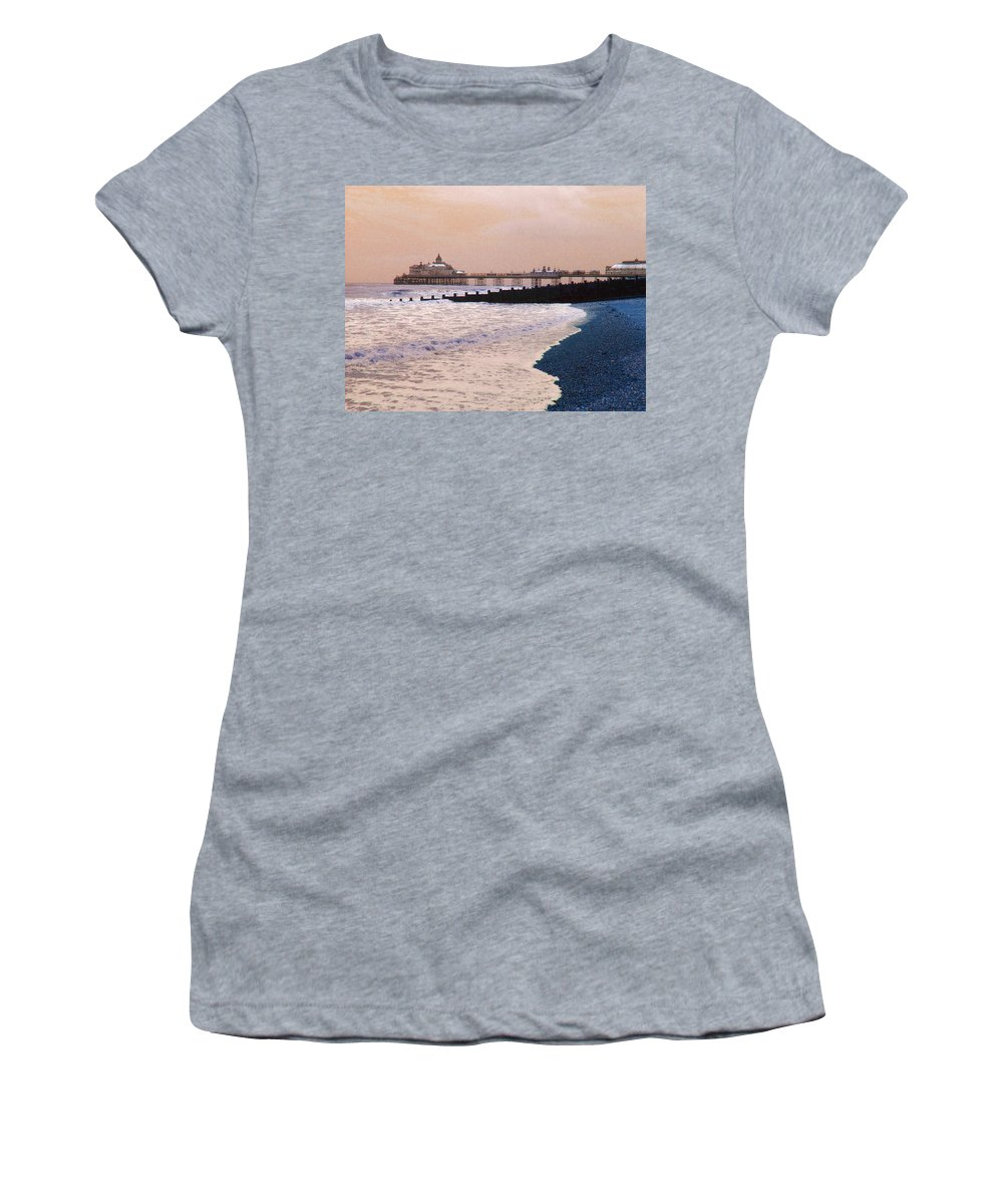 Winter Women's T-Shirt featuring the photograph Winter Pier by Heather Lennox