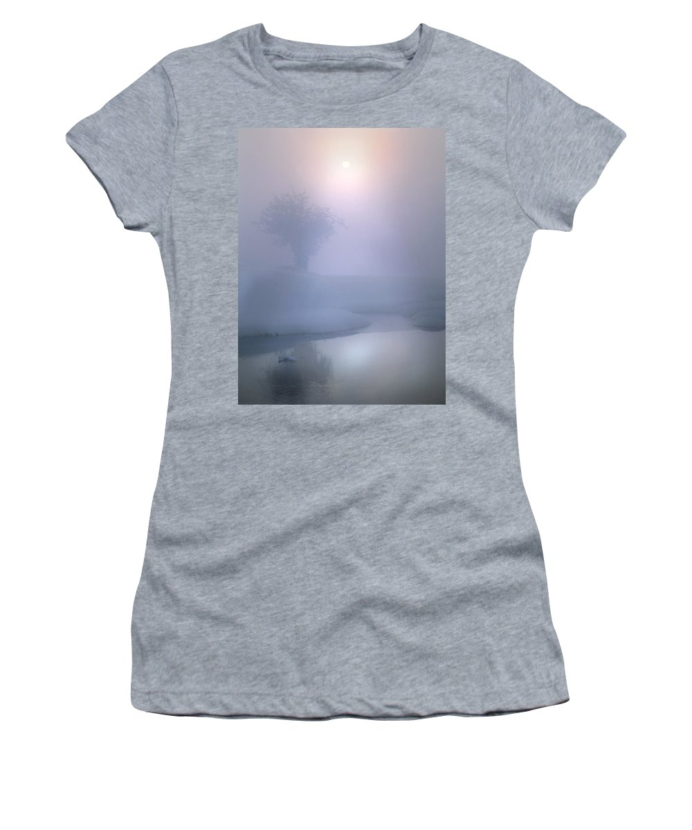 Winter Women's T-Shirt (Athletic Fit) featuring the photograph Winter Sun by Leland D Howard