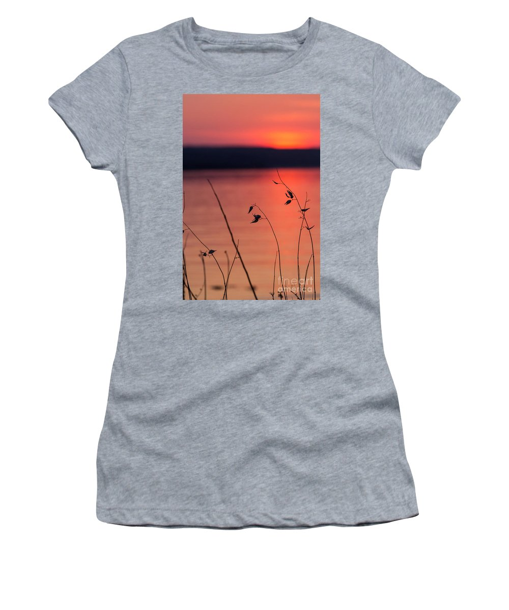 Women's T-Shirt featuring the photograph Winter Sunset I by Michele Steffey