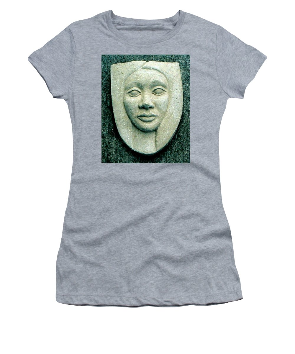 Relief Women's T-Shirt (Athletic Fit) featuring the relief Without Veils by Madalena Lobao-Tello