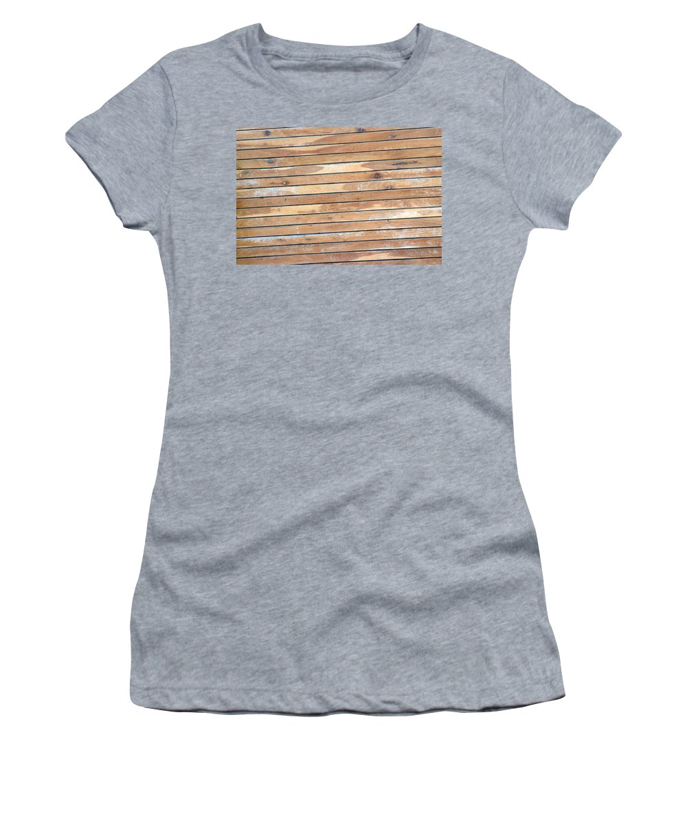 Wood Women's T-Shirt (Athletic Fit) featuring the photograph Wood Lines by Cliff Norton